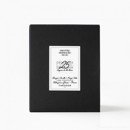 SCENTED CANDLE - 'LAPONIC DECEMBER, 25th' WHITE