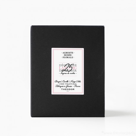 SCENTED CANDLE - 'LAPONIC DECEMBER, 25th' RED