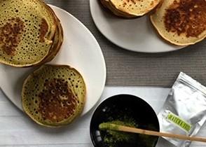 'Matcha-Yuzu' tea pancakes
